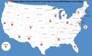 Map of THI Trainee Locations better
