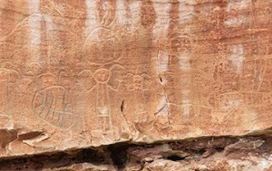 Some of the Rock Art the crew helped protect