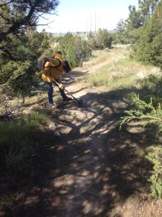 Sam Cravens maintaining tread