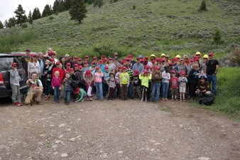family photo for the Great Outdoors Western Campout
