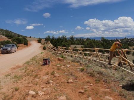 Finishing up the fence