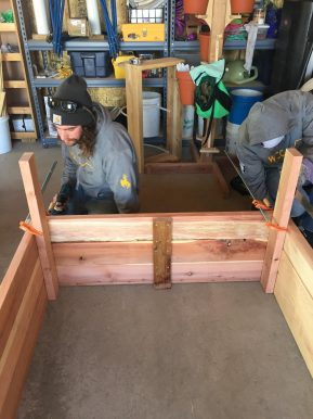 WCC AmeriCorps Leaders Building Raised Beds for the Laramie Community