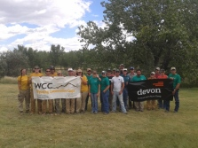 2016 - WCC crew poses with Devon volunteers
