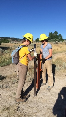 2016 - WCC crew members place trail closed signs with the Casper BLM, sponsored by Devon Energy