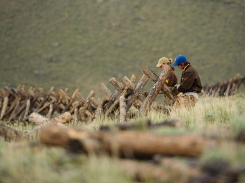 2011 - WCC crews build a buck and rail fence to help control cattle intrusion into a riparian area.